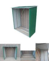 Plechový přístřešek na dřevo CEV 146 x 54 x 150 cm