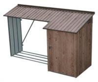 Přístřešek na dřevo s kůlnou DURAMAX 53645 - imitace dřeva
