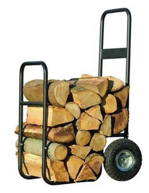 Transportní vozík na dřevo - stojan na dřevo na kolečkách