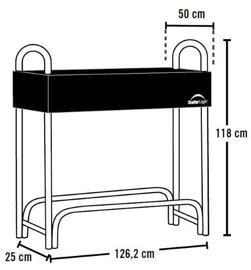 Jednoduchý kovový dřevník na palivové dřevo délky 50cm