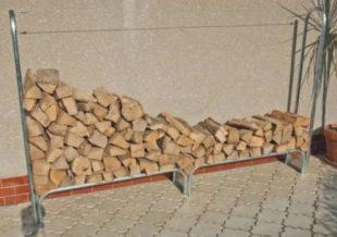 Kovový stojan na štípané palivové dřevo Limes 347 cm