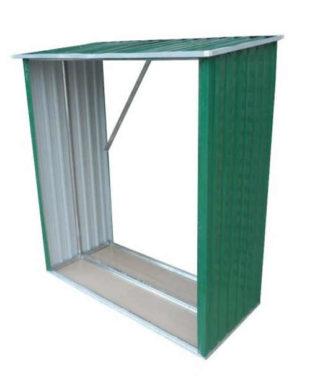 Plechový dřevník 189 x 76 x 191 cm
