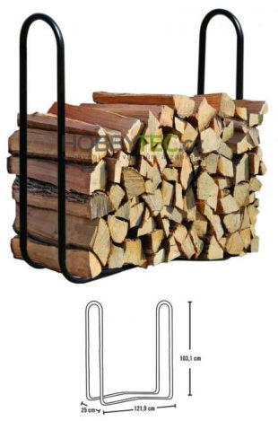 Stojan na dřevo Sadr 122x25x103 cm