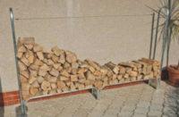 Stojan na dřevo WOODO 233x25x144 cm