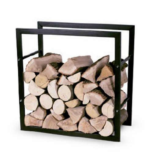 Exkluzivní designový stojan na dřevo do krbu