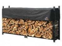 Kovový dřevník na palivové dříví SABIK DOUBLE 238x36x120 cm