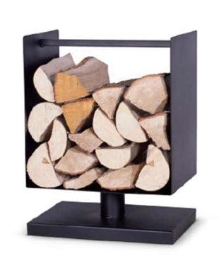 Moderní stojan na dřevo ke krbu