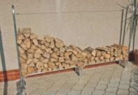 Stojan pro uskladnění 2,1 m3 štípaného palivového dřeva