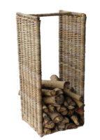 Vysoký ratanový stojan na dřevo