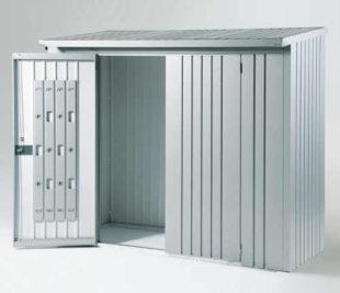 Dveřní set k dřevníku WoodStock 230 - stříbrná metalíza