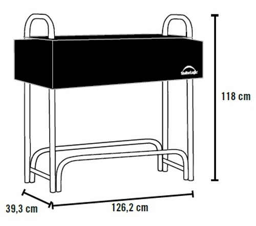 Kovový stojan na dřevo délka 126 cm
