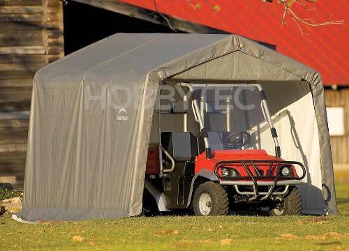 Mobilní garáž pro zahradní traktůrek