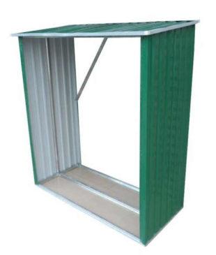 Plechový zahradní dřevník 146 x 54 x 150 cm