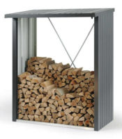 Víceúčelový ocelový dřevník WOODSTOCK 150 šedá metalíza
